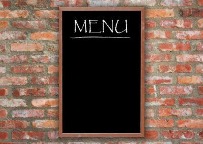 lavagna menu ristorante da parete