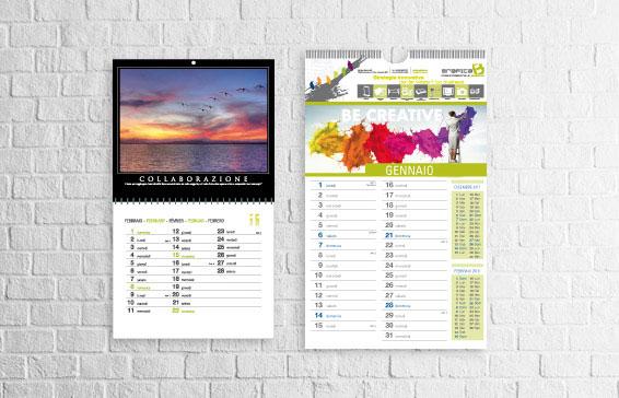 calendari personalizzati stampa digitale milano spirale